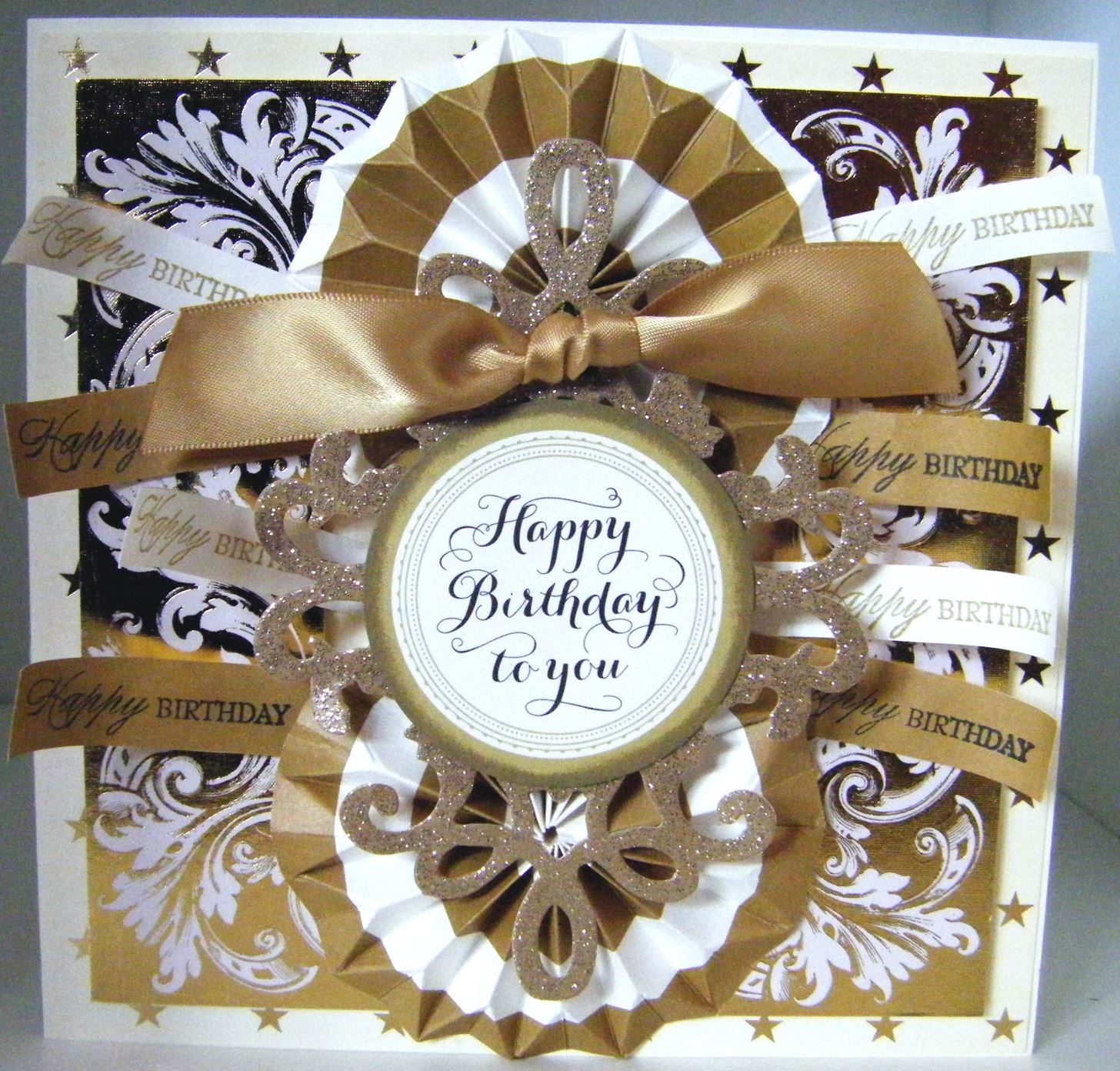 How to Make a Ornate Gold Luxury Card