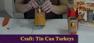 Make turkeys out of paper cups and tin cans