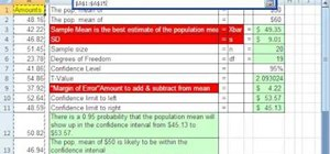 Find confidence intervals without a sigma in MS Excel