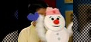 Make a dancing snowman puppet