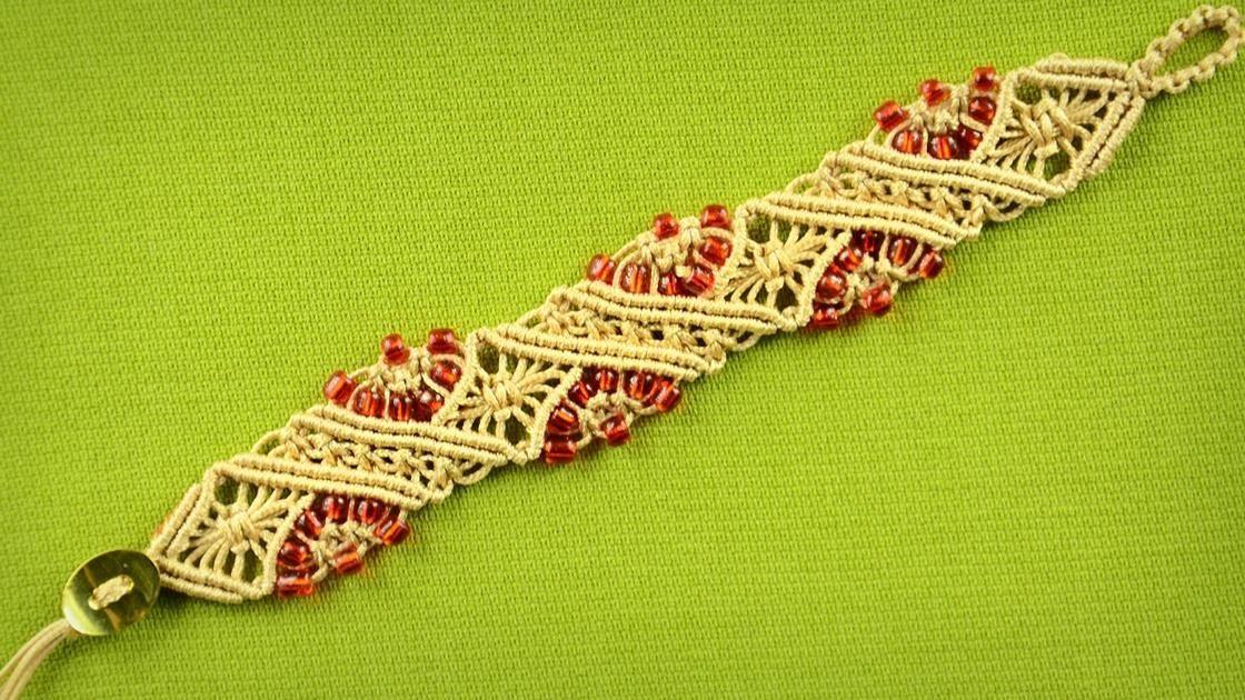 Diamond Stripe Bracelet Tutorial