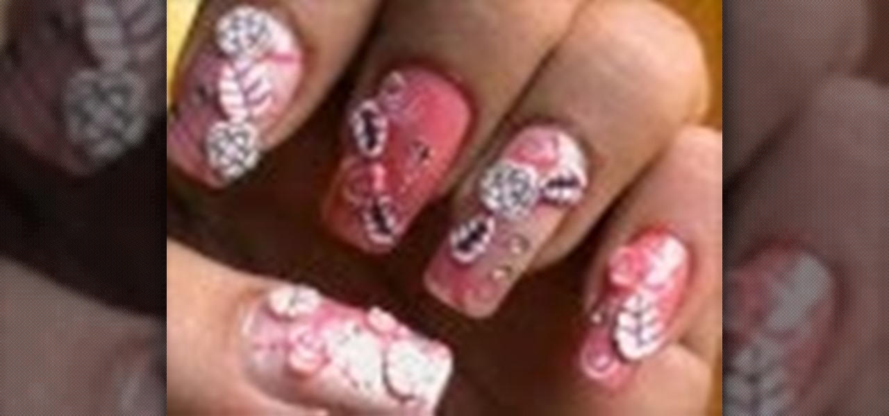 Do Fimo Rose Nail Art