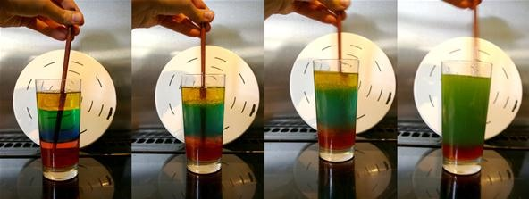 How to Explore Density, Viscosity & Miscibility with a Colorful Layered Liquid Science Experiment
