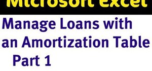 Manage loans with an amortization table in Excel