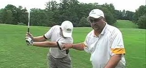 Do a perfect swing shape in golf