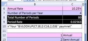 Use a VLOOKUP function inside a text formula in Excel