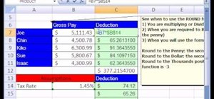 Use the ROUND function for math calculations in Excel