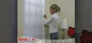 Install inside mount horizontal sheer shades
