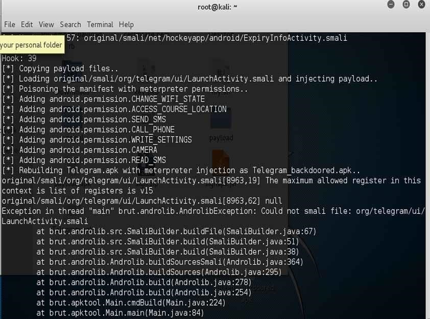 Embed A Metasploit Payload In An Original Apk File 171 Null