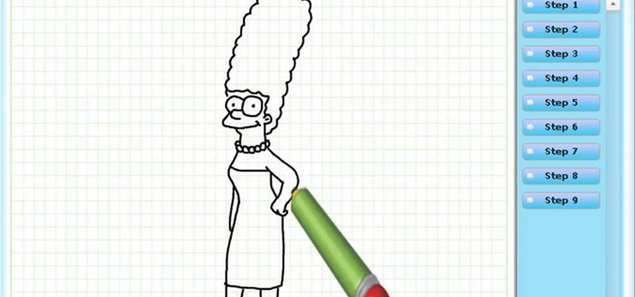 Draw Marge Simpson (the Simpsons)