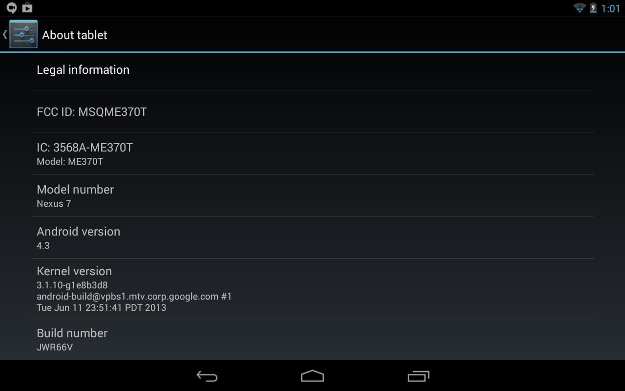 How to Install Google's Official 4.3 Jelly Bean Update on Your Nexus 7 Tablet Right Now