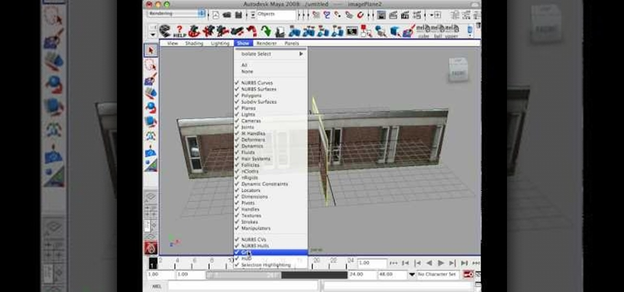 How to produce a 3d house building model using maya maya wonderhowto Create a house online game