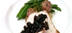 Make a fantastic pork tenderloin with a warm compote and roasted potatoes