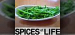 Make stir-fried broccolini