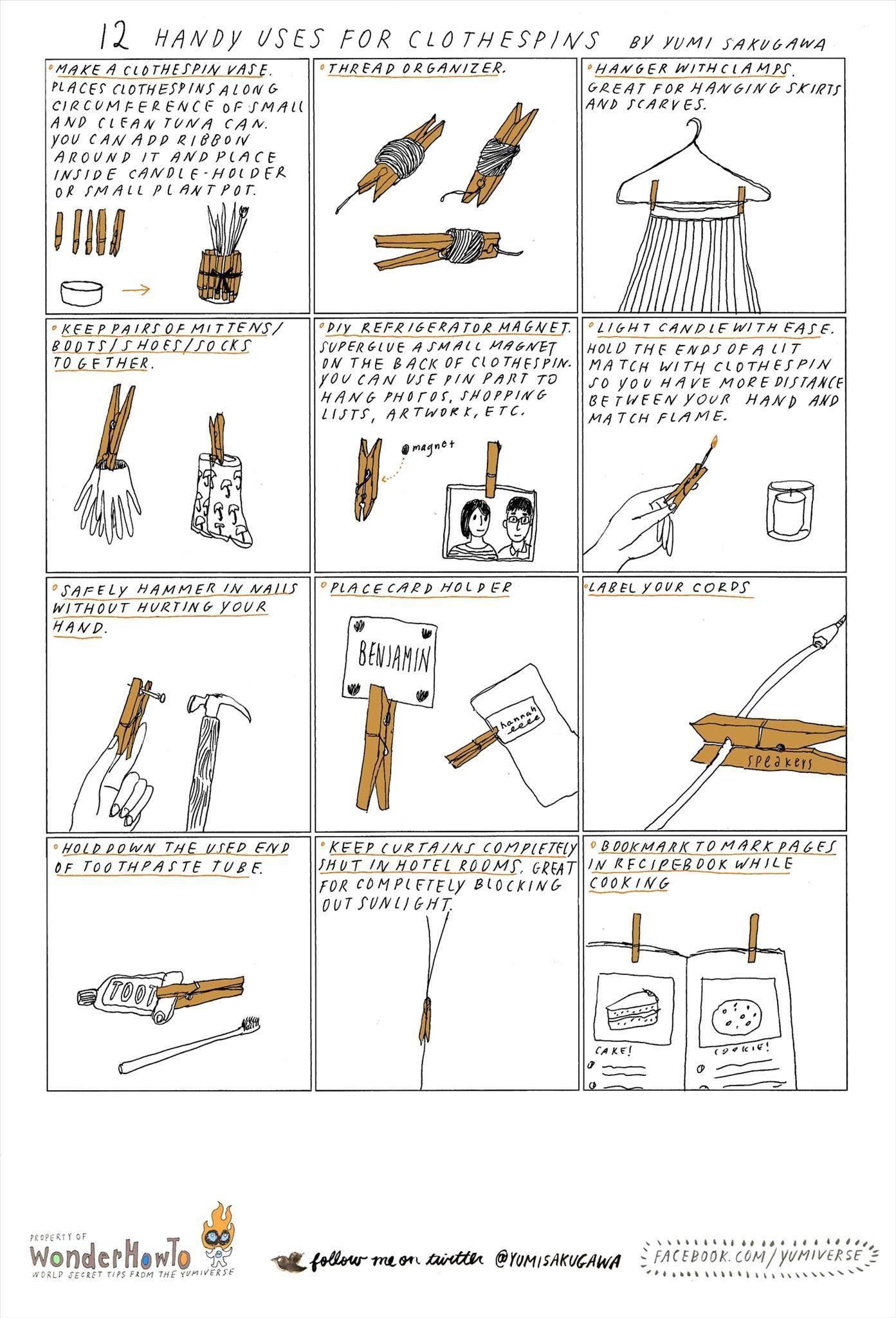 12 Handy Uses for Clothespins
