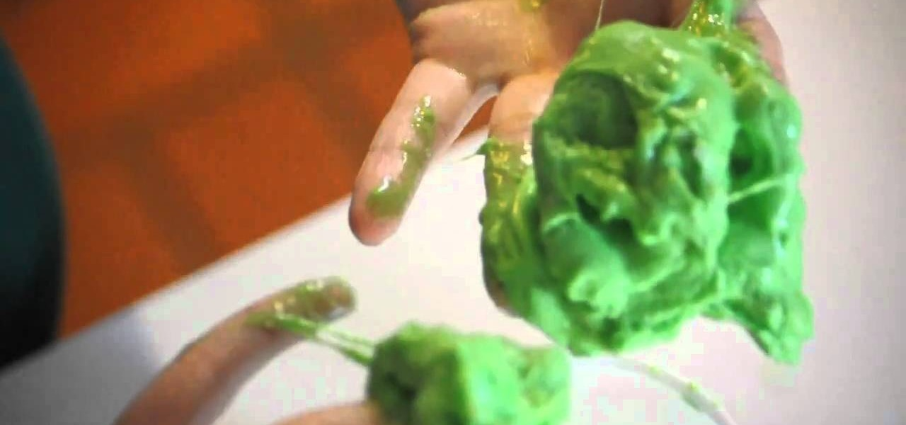 How to Make fun green slime with borax and Elmer's Glue ...