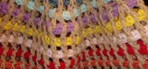 Crochet an adult size streamer hat
