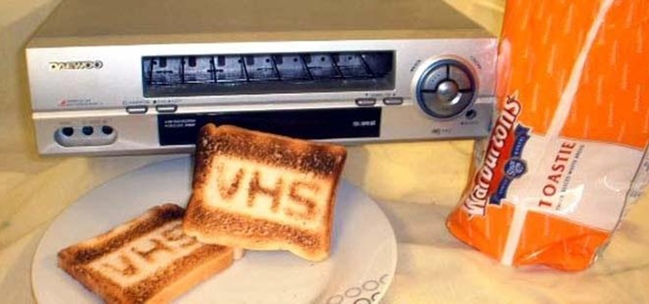 Make Toast Cooler by Modding a VHS Player into a Working Toaster