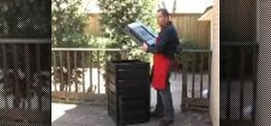 Use a recycled plastic compost bin