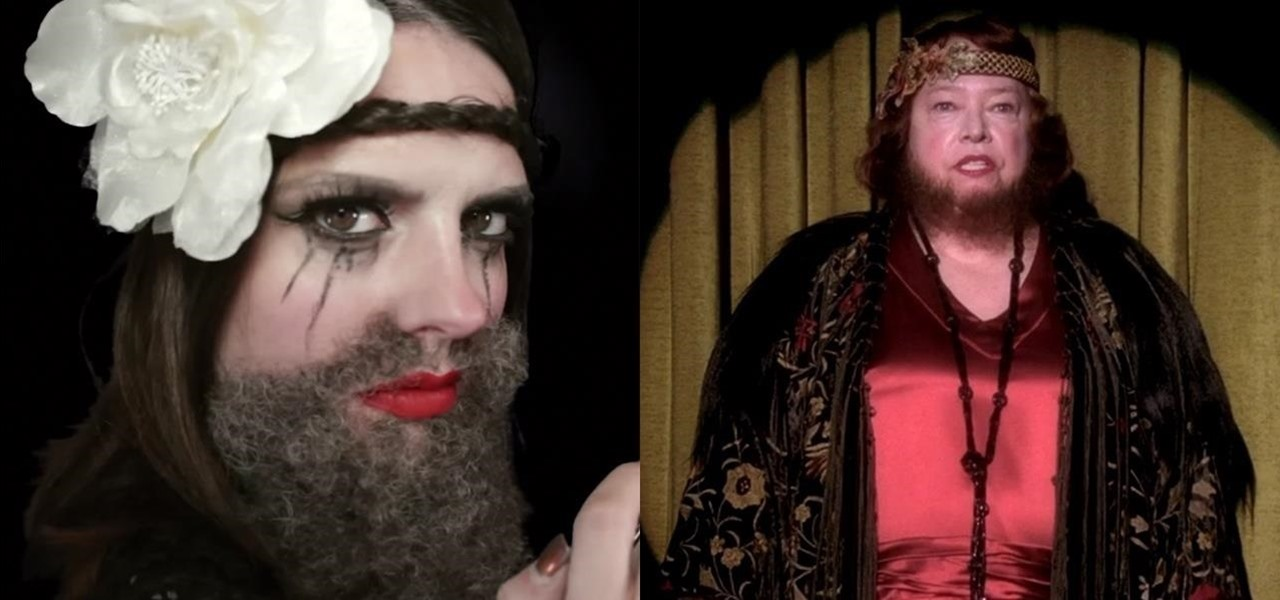 DIY Ethel Darling (The Bearded Lady) Makeup FX for Halloween