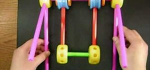 Make a toy swing out of Tinker Toys