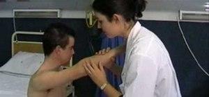 Examine a patient's lymph nodes