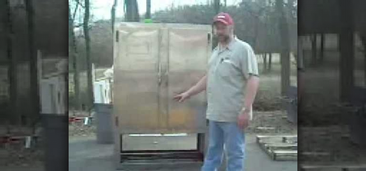 How To Build An Industrial Size BBQ Smoker From An Old Refrigerator «  Construction U0026 Repair :: WonderHowTo