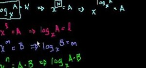 Prove the log a + log b = log ab logarithm property