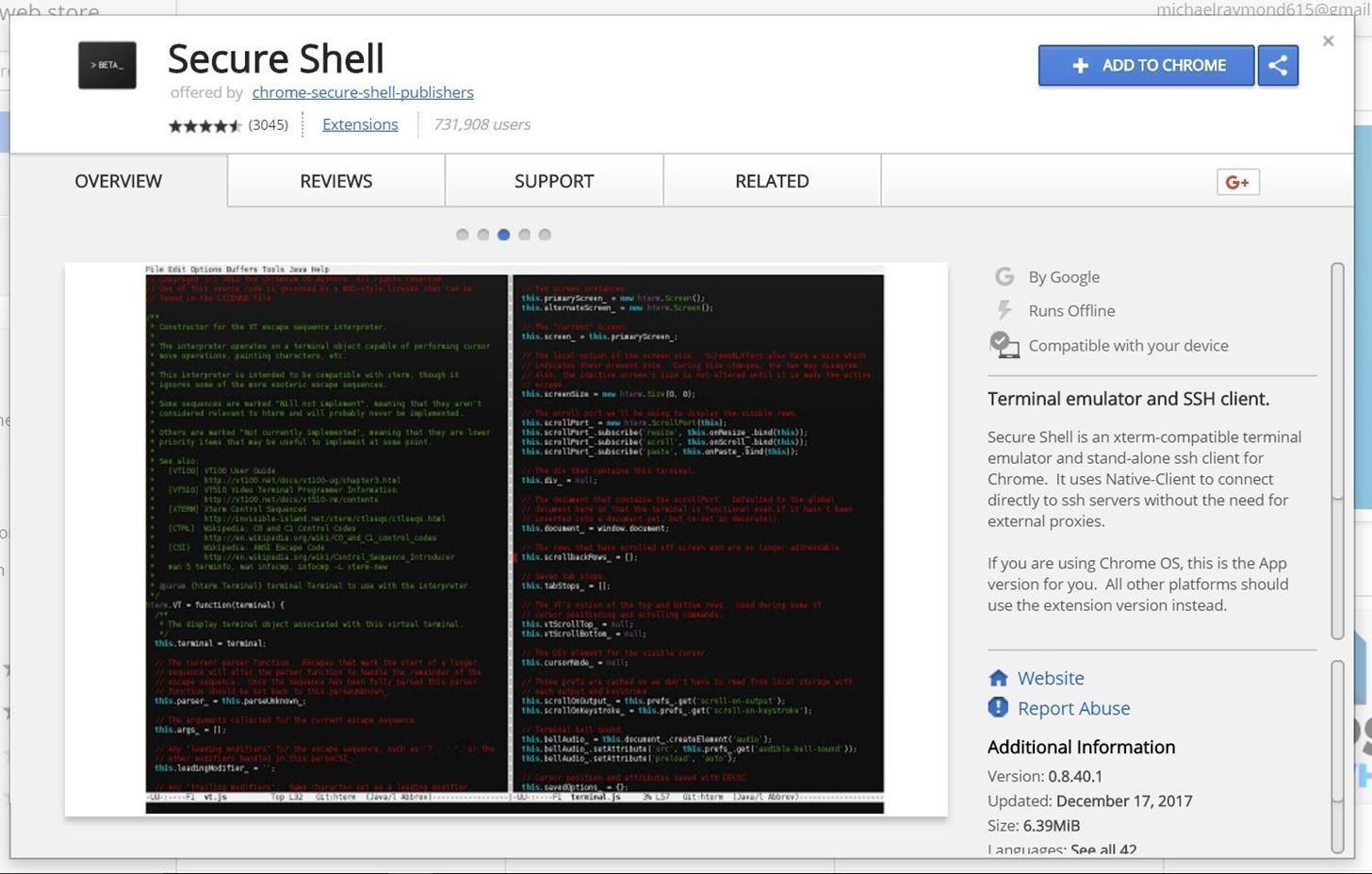 How to Use the Chrome Browser Secure Shell App to SSH into Remote Devices