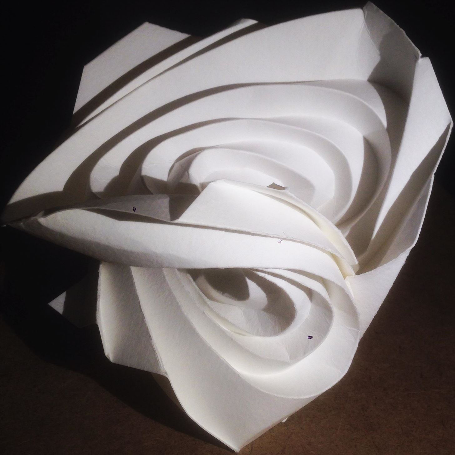 Curvy origami designs I am working on: