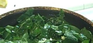 Make tasty collard greens in 4 minutes