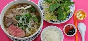 Make beef pho Vietnamese noodle soup with Kai