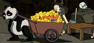 Banksy's Simpsons Opening Portrays Grim Sweatshop Underworld