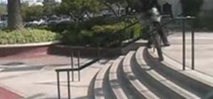 Hop stairs on a unicycle