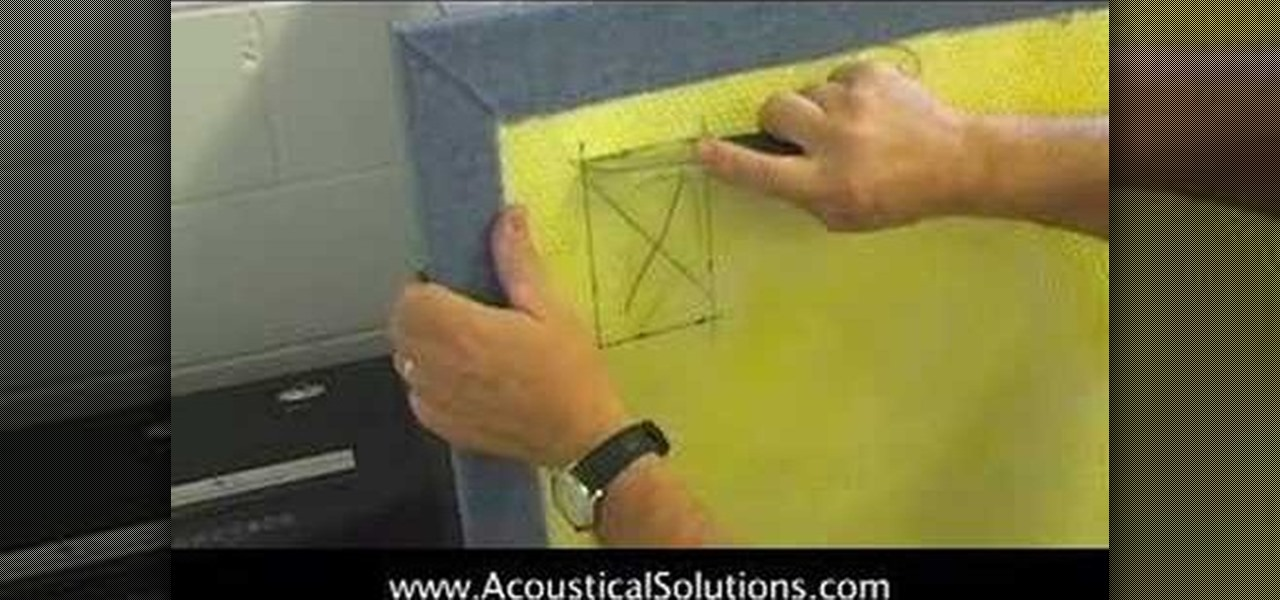 how to install an acoustic wall panel cutout