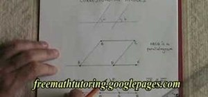Understand the Rule of Corresponding Angles