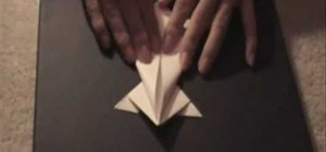 Fold a frog using origami