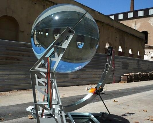 This Giant Glass Globe Turns Moon and Sunlight into Power—Possibly Even Solar Death Rays!