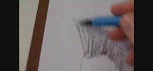 Draw a head of hair