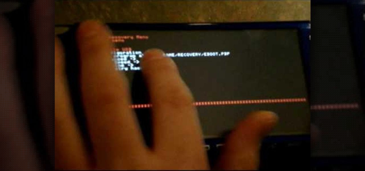 Hack, Install Custom Firmware on Sony PSP-E1004 Street