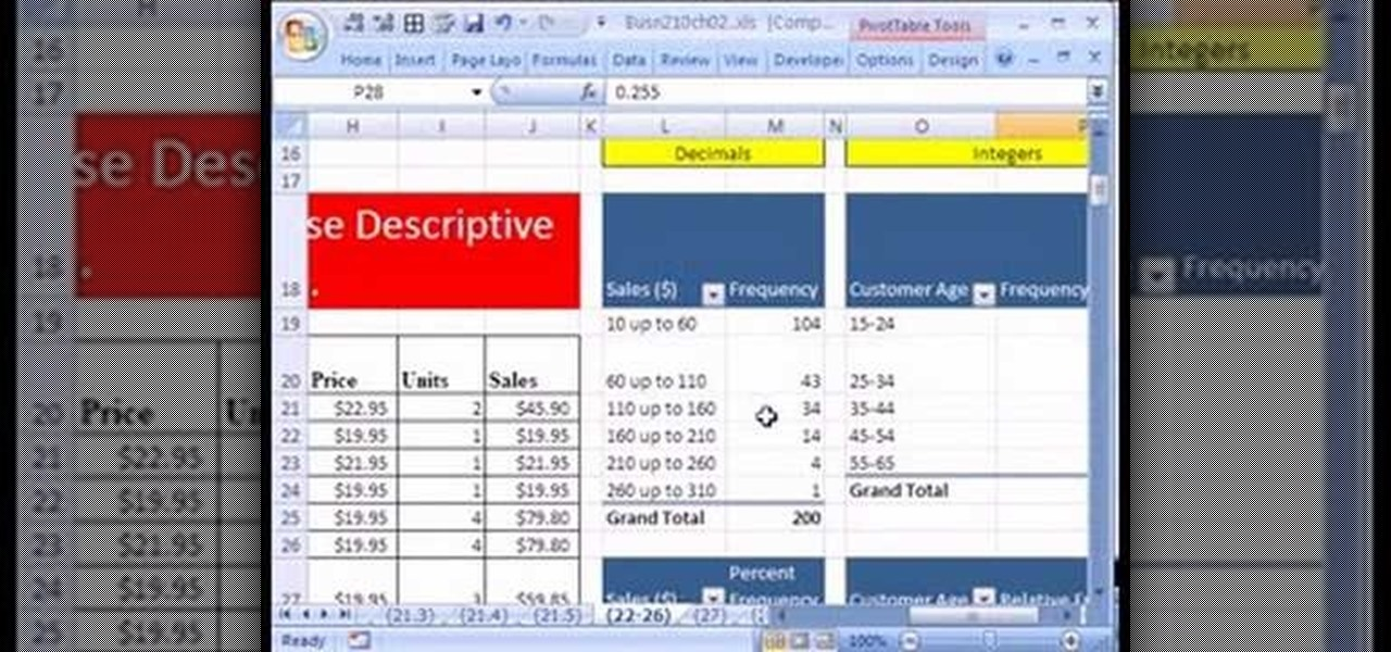 How to Create percent & relative freq. distributions in ...