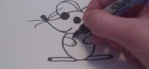 Draw a cute cartoon mouse