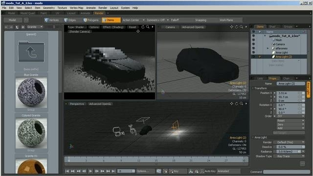 Render a 3D model of a car within modo - Part 2 of 2