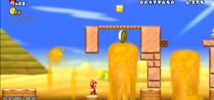 Collect all three Star Coins in New Super Mario Bros Wii World 2-1