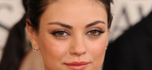 Get Mila Kunis' Elegant Golden Globes Hair & Makeup