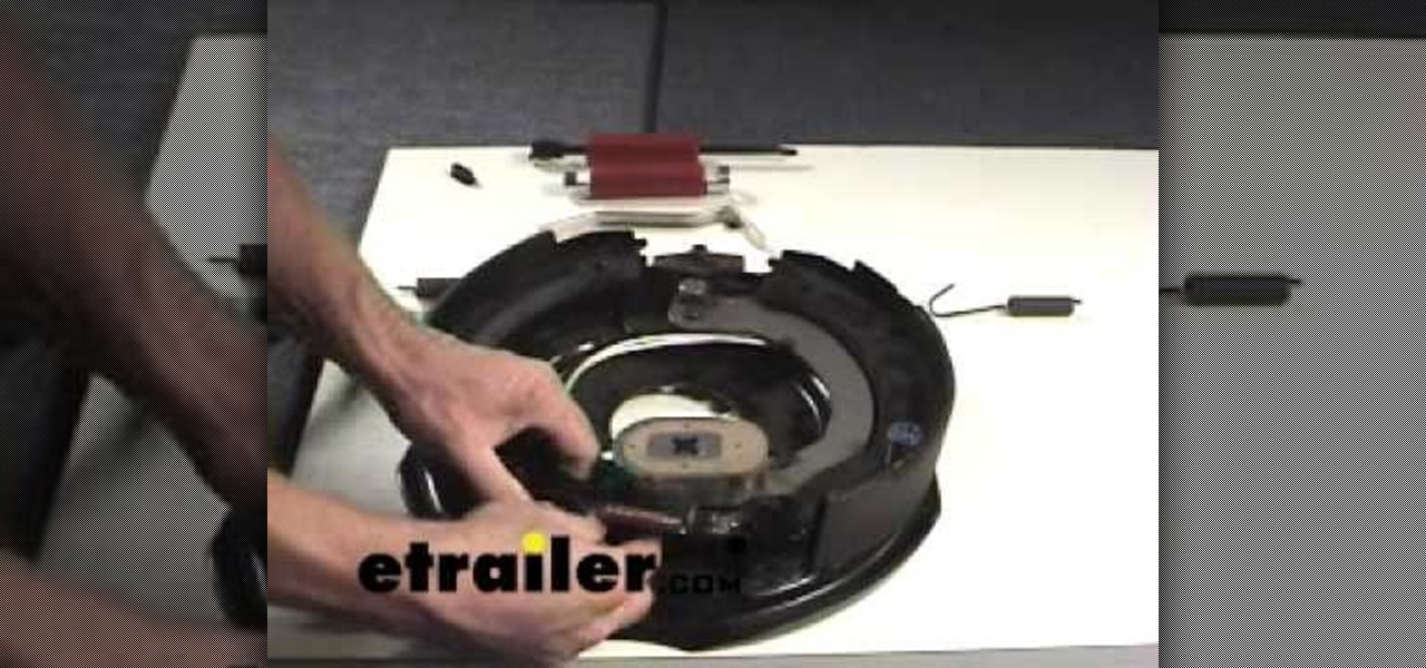how to replace electric trailer brake shoes auto maintenance repairs wonderhowto. Black Bedroom Furniture Sets. Home Design Ideas