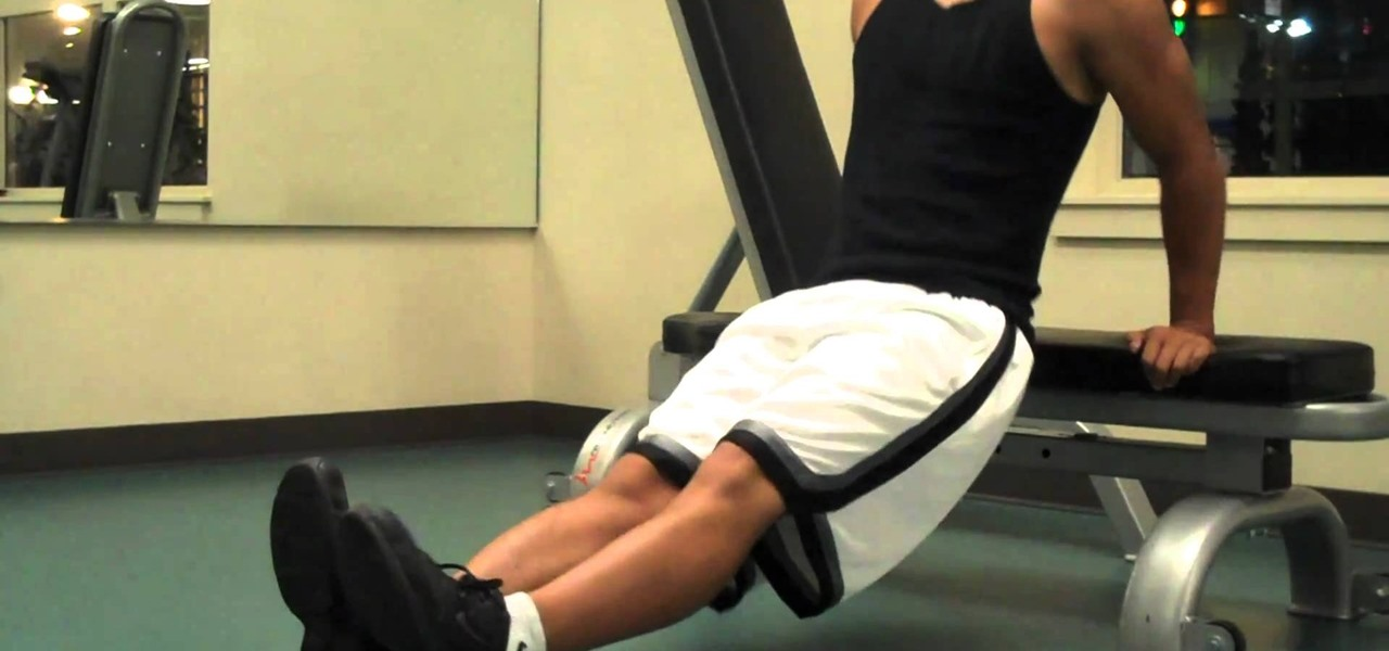 How To Do Bench Dip Exercises To Increase Your Arm Strength And Size Exercise Equipment Wonderhowto