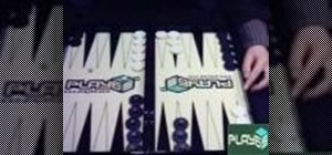 Play backgammon from the beginning