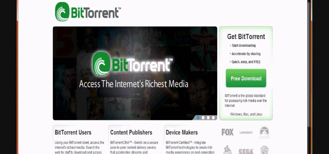 How to Download movies, music, and software using torrents « Torrent