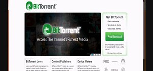 Download movies, music, and software using torrents